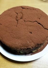 ビターチョコでスフレチーズケーキ