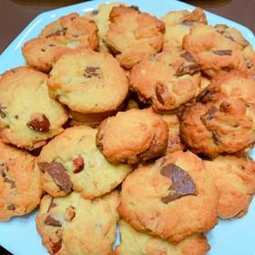 カリッサクッ!簡単チャンククッキー!