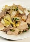 白菜と豚ばら肉のゆず胡椒炒め♪