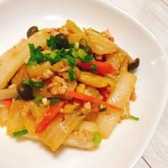 野菜たっぷり!フライパンで作る白菜鶏麻婆