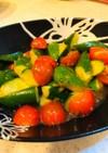 ゴロゴロきゅうりとトマトのぱぱっとサラダ