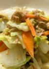 白菜とキノコのシーチキン炒め