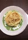 魚介類&小松菜のスープパスタ