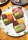 すしケーキ(簡単押し寿司)