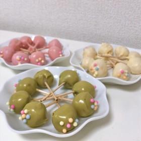 ひなまつり☆ケーキポップス風白玉だんご