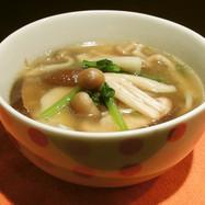 ベジ♪きのこのしょうがスープ