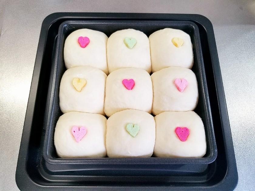 バレンタイン♡ハートのちぎりパン