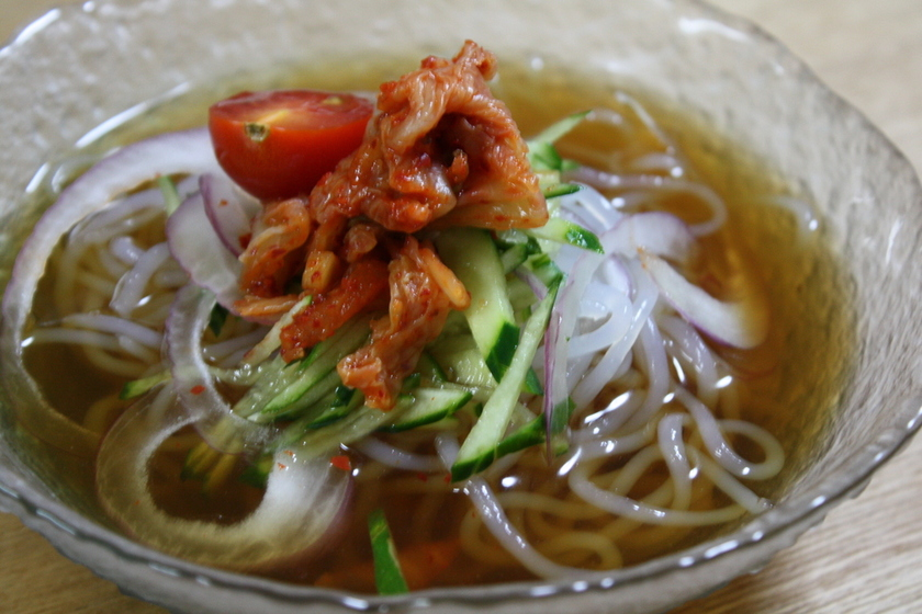 韓国風・糸こん冷麺