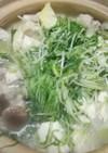 鶏胸肉の鶏ガラスープ鍋