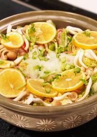 豚バラ肉と白菜のレモンミルフィーユ鍋