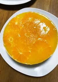 オレンジムース&ゼリーケーキ