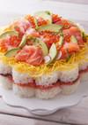 ノルウェーサーモンのお寿司ケーキ