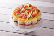 ノルウェーサーモンのお寿司ケーキの写真