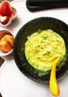 野菜スープのミルク味噌うどん