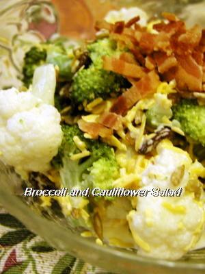 ブロッコリーとカリフラワーのサラダ