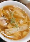 鯖缶とたっぷり野菜の和風スープ