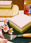 ✿ひな祭りデザート✿三色レアチーズケーキ