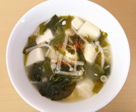 豆腐・わかめ・えのきの味噌汁