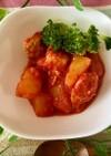 ササミとジャガイモのトマト煮