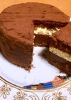 ピスタチオとチョコレートムースのケーキ
