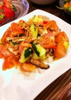 トマトときゅうりと椎茸の簡単サラダ