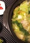 オリーブオイルと鶏レタスの!ペペロン鍋