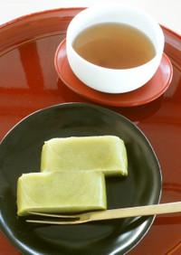 レンジで簡単♪抹茶きな粉ミルクういろう