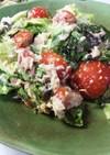 トマトとレタスツナのサラダ