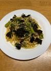 春を先取り「菜の花と鯖缶のスパゲティ」