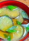 茄子とネギの味噌汁