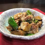 豚肉・茄子・ピーマンの味噌塩麹炒めの写真