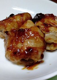 椎茸とポテトサラダの豚バラ薄切り巻き