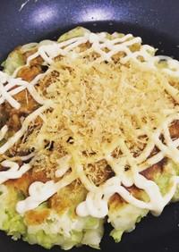 天ぷら粉でお好み焼き