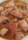 簡単。豚ロースブロック肉の赤ワイン煮込み