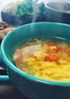 トマトと溶き卵のあったかスープ