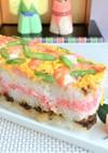 牛乳パックで雛祭りケーキ寿司♪