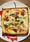 厚切り食パンで!ピザグラタンパン