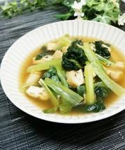 小松菜と薄揚げの煮びたしの写真