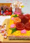 ひな祭り✿ケーキ型で作る…三色ちらし寿司