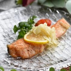 焼き鮭のレモンマリネ☆