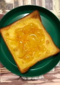 バターで囲ってジャムトースト