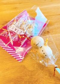 簡単!雪だるまのロリポップ♡ケーキポップ