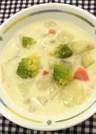 クリームスープ とろみをつける