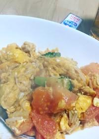 糖質制限☆妊婦さん♡トマトと卵の中華炒め