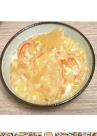 白だしで簡単!大根とカニカマの卵雑炊