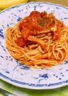 ベーコンとチーズのトマトスパゲティー