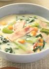 ホワイトソースいらず!小松菜のクリーム煮
