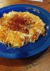 大根の皮レシピ⑥素麺とモヤシの簡単チヂミ
