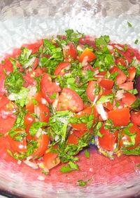 モロッコ風?パセリとトマトのサラダ