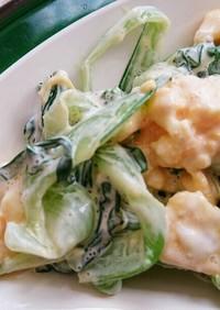 チンゲン菜と玉子のマヨサラダ